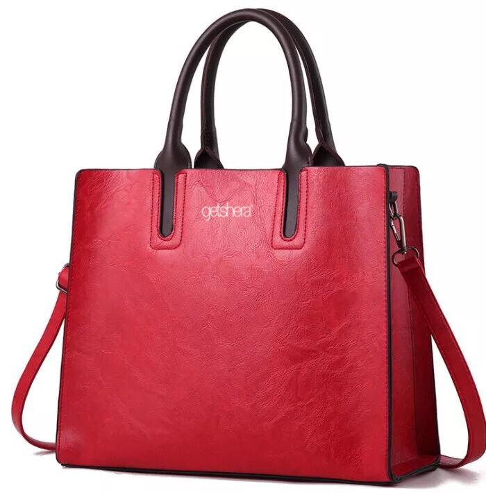 GETSHERA L LEATHER HANDBAG